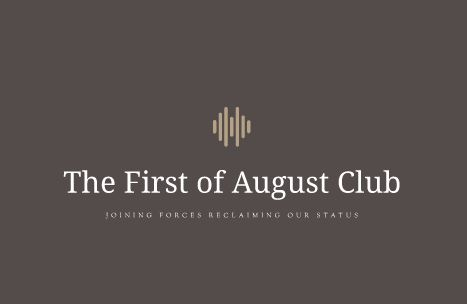 The First of August Club ( Business Card #1 Front )